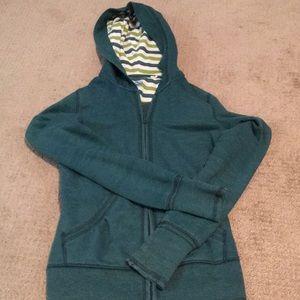 Greenish blue zip up hoodie